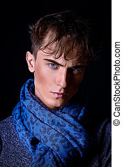 fashion man - Portrait of a handsome young man with stylish...