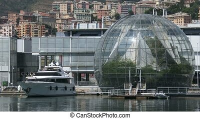View of the biosphere in Genoa
