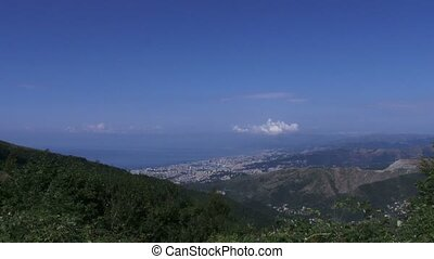 City of Genoa, seen from the hills - City of Genoa, in...