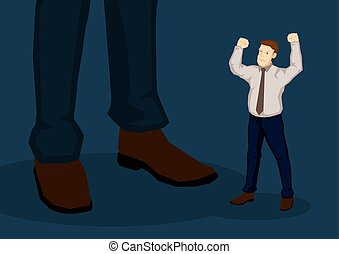 Employee Angry with Higher Management Vector Cartoon...