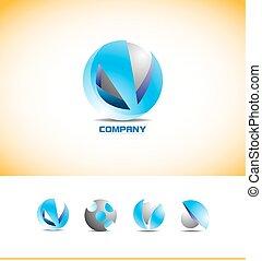 Sphere 3d logo design