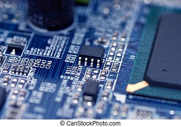 closeup texture of integrated circuit
