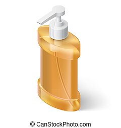 Liquid Soap Dispenser - Yellow Liquid Soap Dispenser in...