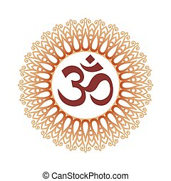 Ohm Sign - Om Symbol, Aum Sign, and Decorative Indian...