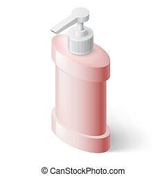 Liquid Soap Dispenser - Pink Liquid Soap Dispenser in...