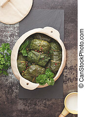Stuffed Collard Greens - Collard greens rolls in crock pot...
