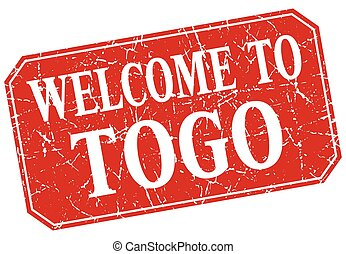welcome to Togo red square grunge stamp