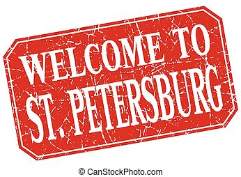 welcome to St Petersburg red square grunge stamp
