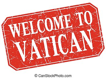 welcome to Vatican red square grunge stamp