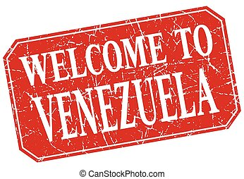 welcome to Venezuela red square grunge stamp