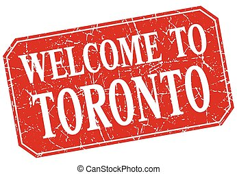 welcome to Toronto red square grunge stamp