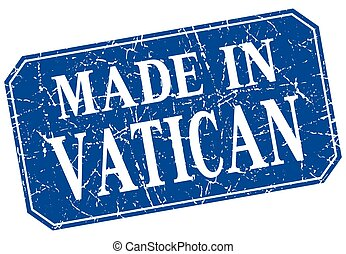 made in Vatican blue square grunge stamp