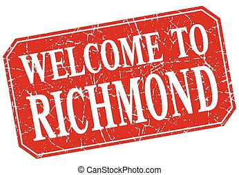 welcome to Richmond red square grunge stamp