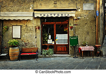 Italian restaurant - Entrance of old italian restaurant in...