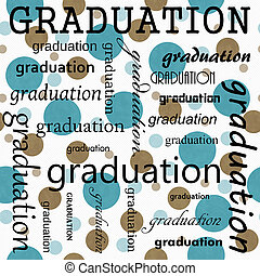 Graduation Design with Teal and White Polka Dot Tile Pattern...