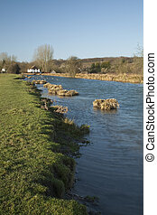Kennet and Avon Canal above Marsh Lock at Hungerford in...