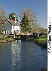 Cobbler's Lock on the Kennet and Avon Canal near Hungerford,...