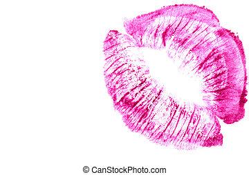 Beautiful purple lips.