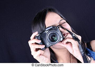 fotógrafo, femininas