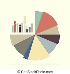 Pie chart and bar chart for documents and reports