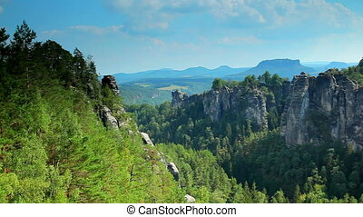 Mountains in Saxon Germany