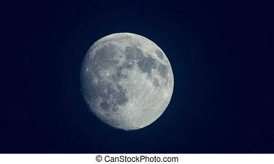 Moon on dark sky