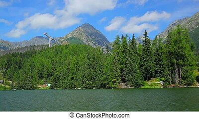 Tatras mountains in Slovakia view from high lake