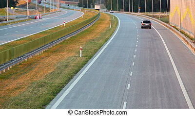 Modern highway in Poland