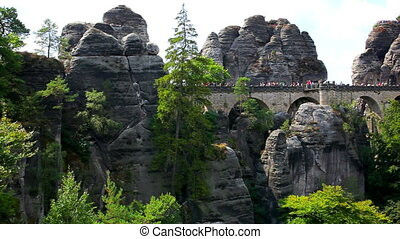 Bastei brigde in Germany - Mountains in Germany Bastei...