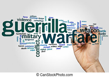 Guerrilla warfare word cloud - Guerrilla warfareconcept word...