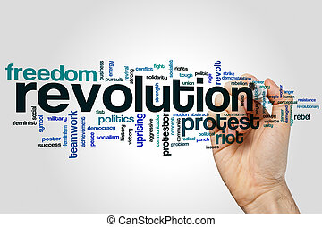 Revolution word cloud concept