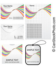abstract business template set