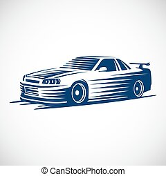 vectro sport car - Stylized illustration of a Japanese...