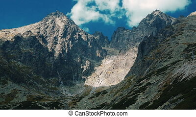 High Tatras mountains in Slovakia fast motion effect