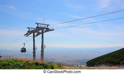 Modern cableway in Tatras mountains Slovakia