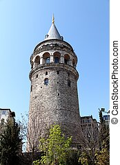 galata tower - the Galata tower in Istanbul
