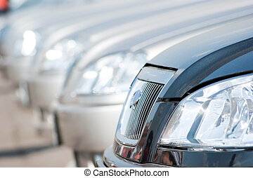Car Dealership - A shiny row of cars