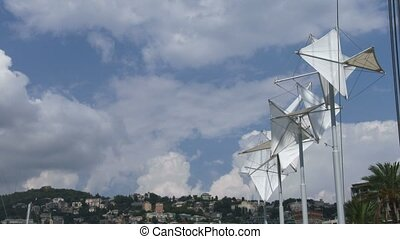 Bigo structure in the port of Genoa - Bigo structure in the...