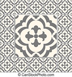 Retro Floor Tiles patern - Floor tiles - seamless vintage...
