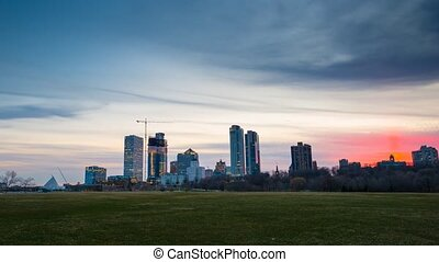 Milwaukee Wisconsin Day to Night Time-lapse - Milwaukee...