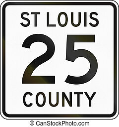 Minnesota county route shield - St. Louis County.
