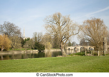 Wallingford Bridge on the River Thames, Oxfordhire, Uk