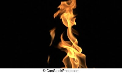 Realistic Fire Black Bacground - Realistic Fire Full HD...