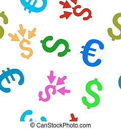 Aggregate Payment Seamless Flat Vector Pattern - Aggregate...