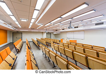 This interior can contain many students - Spacious...