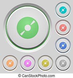 DVD push buttons - Set of color DVD sunk push buttons