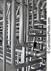 Piping. - Interlacement of stainless pipe.