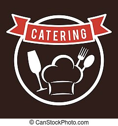 Catering and chefs hat design - Catering concept with icon...