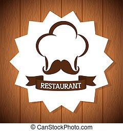menu and chefs hat design - Food and Menu concept with icon...