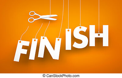 Finish - scissors cut the ropes